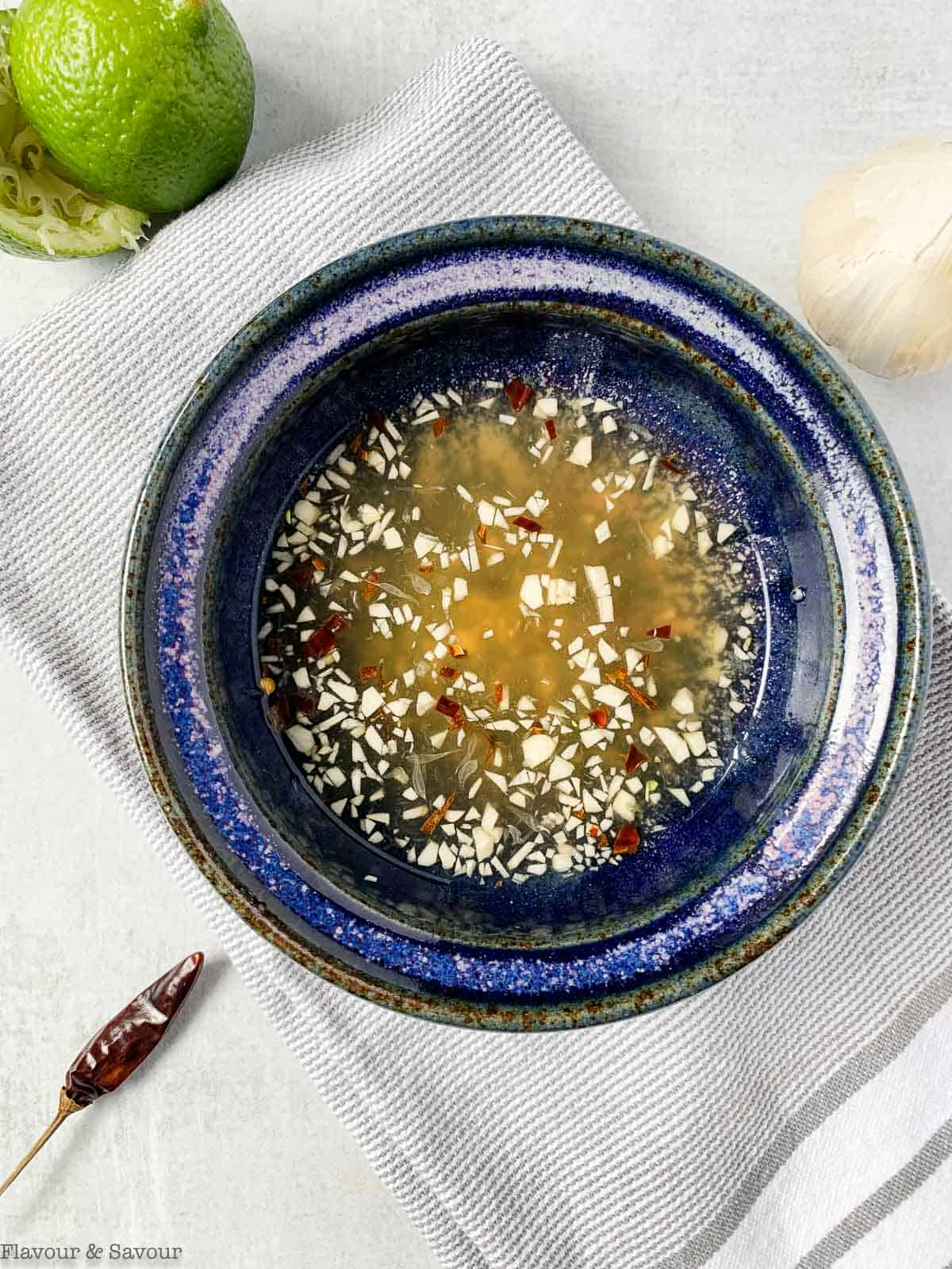 a bowl of Nuoc Cham