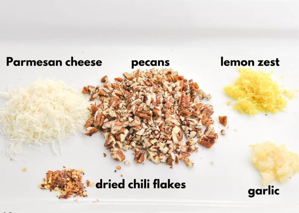 Ingredients for Skillet Parmesan Pecan Green Beans