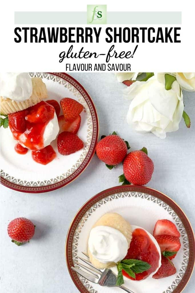 Image and text for Gluten-free Strawberry Shortcake