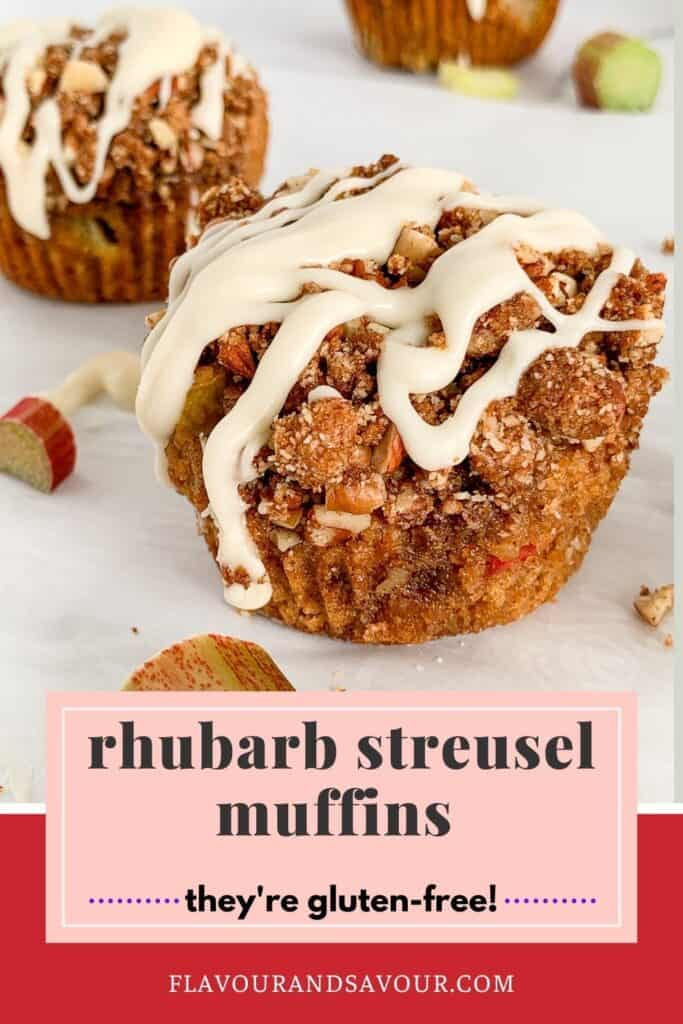 Image and text for Rhubarb Streusel Muffins