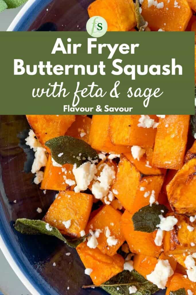 Image and text for Air Fryer Butternut Squash